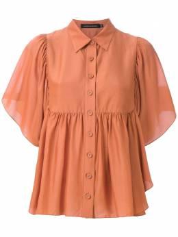 Andrea Marques блузка на пуговицах с оборками BLUSACOMPALABABADOS
