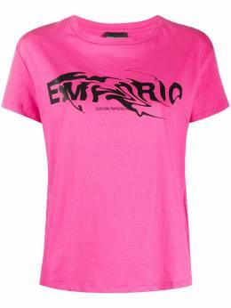 Emporio Armani футболка с круглым вырезом и логотипом 3H2T7G2J30Z