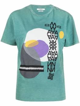 Isabel Marant Etoile футболка Pewela с графичным принтом TS069520P074E