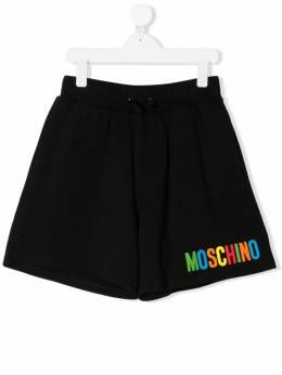 Moschino Kids спортивные шорты с логотипом HAQ002LDA12