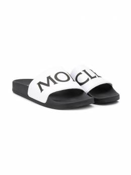 Moncler Kids шлепанцы с логотипом 4C7000001AD5