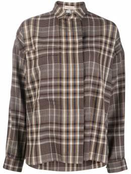 Versace Pre-Owned клетчатая рубашка 1980-х годов VRS380M