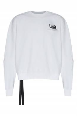 Белый свитшот с черной отделкой Unravel Project 2852188986