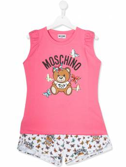 Moschino Kids top and shorts set HDG000LBA00