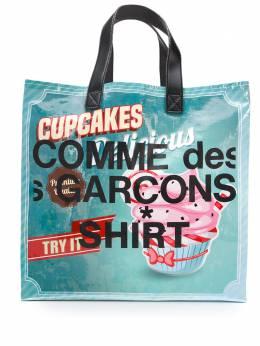 Comme Des Garcons Shirt сумка-шопер с принтом S28610