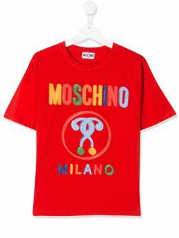 Moschino Kids TEEN logo print T-shirt HDM03FLBA00