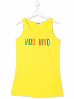 Moschino Kids TEEN logo-printed tank top HAM00XLBA01