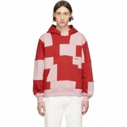 Ambush Red and Pink Panel Hoodie 12112062