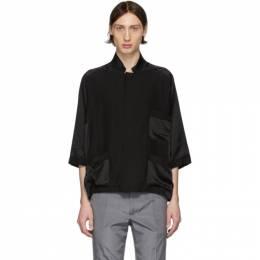 Haider Ackermann Black Short Sleeve Pyjama Shirt 203-3608-125-099