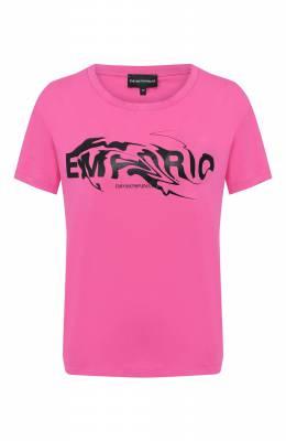 Хлопковая футболка Emporio Armani 3H2T7G/2J30Z