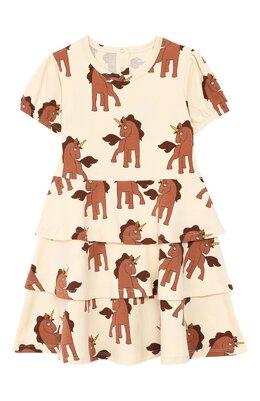 Хлопковое платье Mini Rodini 20250120