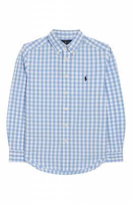 Хлопковая рубашка Ralph Lauren 322785645
