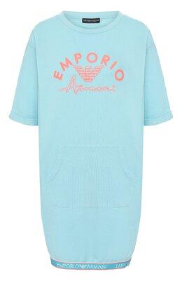 Хлопковое платье Emporio Armani 164322/0P287