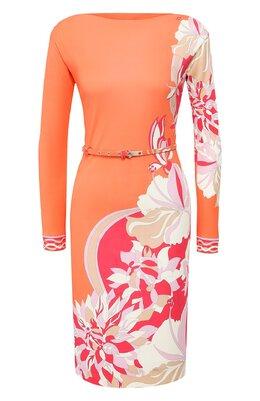 Платье из смеси вискозы и шелка Emilio Pucci 0EJH42/0E872