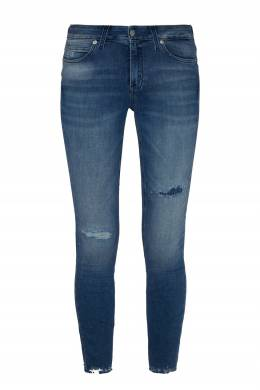 Синие джинсы с потертостями Calvin Klein 596189536
