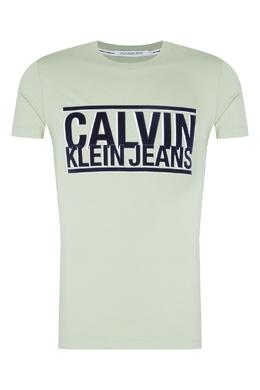 Фисташковая футболка из трикотажа Calvin Klein 596189412