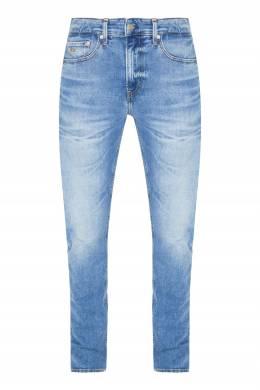 Голубые джинсы с потертостями Calvin Klein 596189281