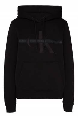 Черное худи с вышитым логотипом Calvin Klein 596189532