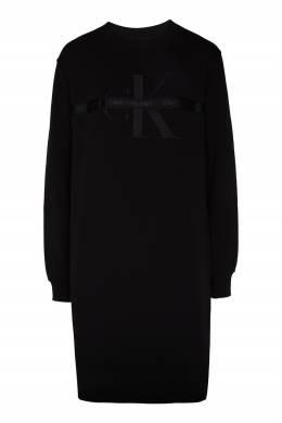 Черное платье с логотипом Calvin Klein 596189533
