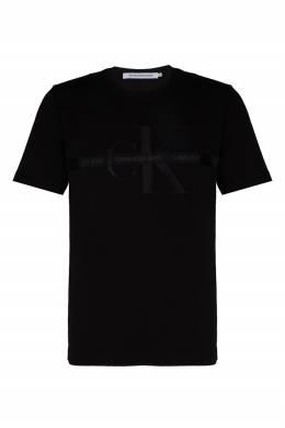 Черная футболка из хлопка Calvin Klein 596189461