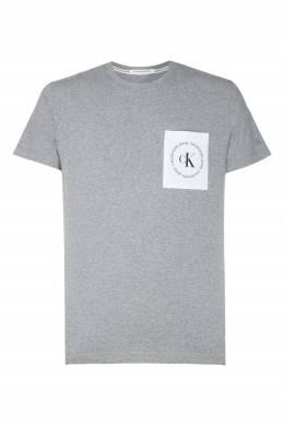 Серая трикотажная футболка Calvin Klein 596189398