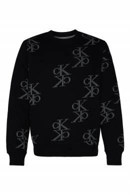 Черный свитшот с логотипами Calvin Klein 596189419