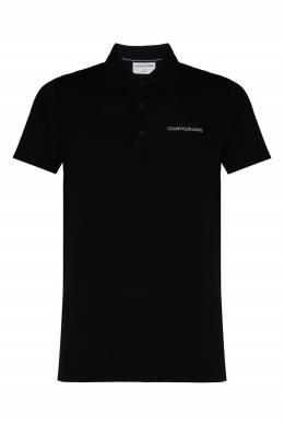 Черное поло из хлопка пике Calvin Klein 596189482