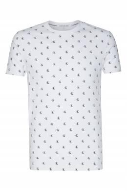 Белая футболка с логотипами Calvin Klein 596189486