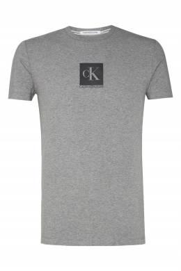 Серая футболка из хлопка Calvin Klein 596189485