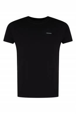 Черная футболка из трикотажа Calvin Klein 596189411