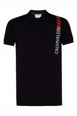 Черное поло с логотипом Calvin Klein 596189410