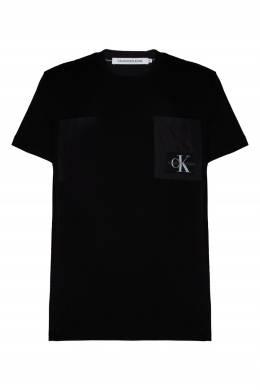 Черная футболка с нагрудным карманом Calvin Klein 596189415