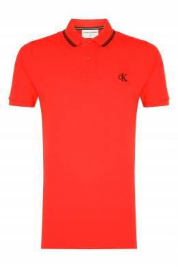 Красное поло с логотипом Calvin Klein 596189483