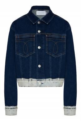Джинсовая куртка с накладными карманами Calvin Klein 596189518