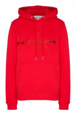 Красное худи с вышитым логотипом Calvin Klein 596189549