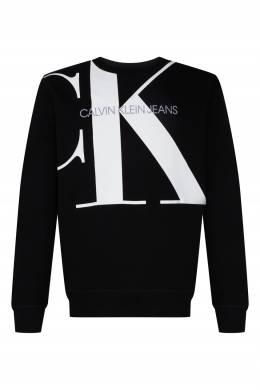 Черный свитшот с белым логотипом Calvin Klein 596189498