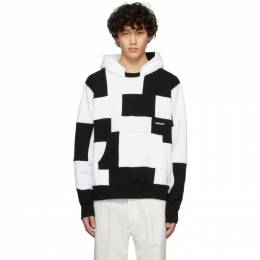 Ambush Black and White Panel Hoodie 12112062