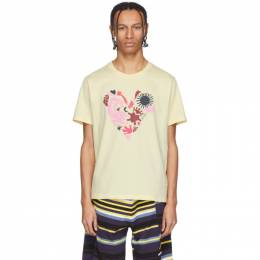 Kenzo Yellow Limited Edition Valentines Day T-Shirt FA55TS0684W8.38