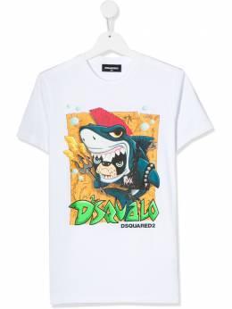 Dsquared2 Kids TEEN shark bulldog T-shirt DQ03W4D00MQ
