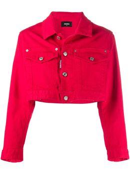 Dsquared2 укороченная джинсовая куртка Icon S80AM0002S39781