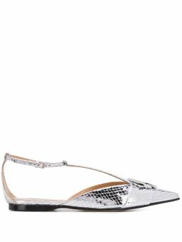 Sergio Rossi snakeskin effect sandals A90010MCAL09