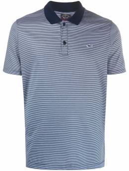 Paul & Shark shark-patch striped polo shirt E20P1296