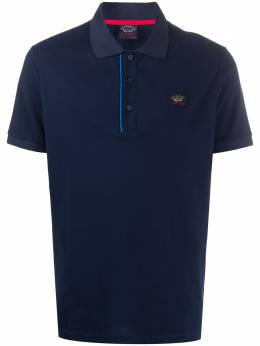 Paul & Shark logo-patch polo shirt E20P1213