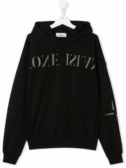 Stone Island Junior TEEN logo embroidered hoodie MO721661140