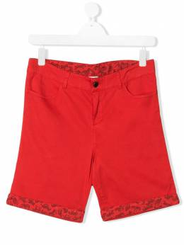 Paul Smith Junior TEEN zebra print cotton shorts 5Q25532