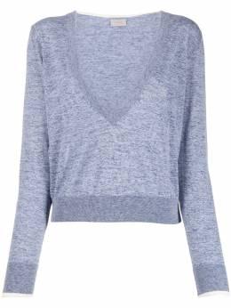 Mrz укороченный пуловер с глубоким вырезом S200034