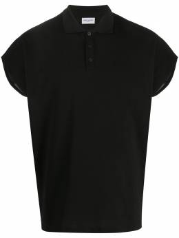 Saint Laurent рубашка-поло с рукавами кап 597021YBLG2