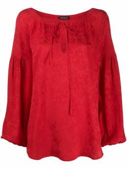 Wandering блузка с пышными рукавами и жаккардовым узором WGS20212