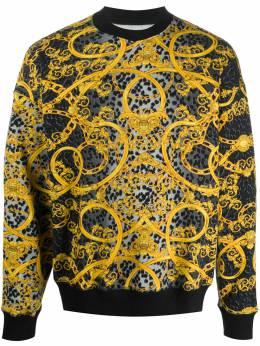 Versace Jeans Couture leopard baroque-print sweatshirt B7GVA723SM400
