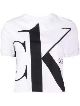 Calvin Klein Jeans укороченная футболка с логотипом J20J214277